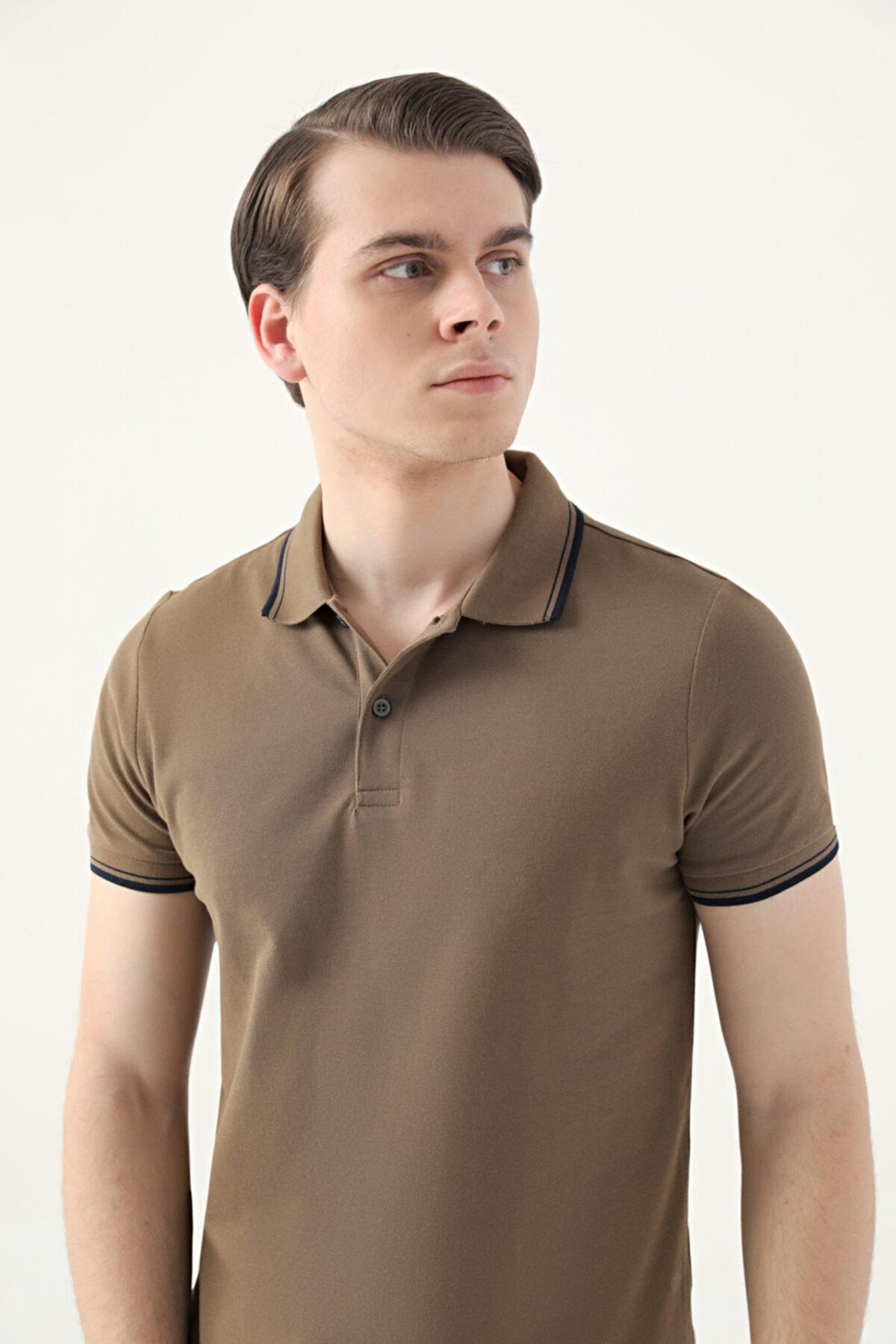 D'S Damat Ds Damat Slim Fit Vizon Pike Dokulu T-shirt 1