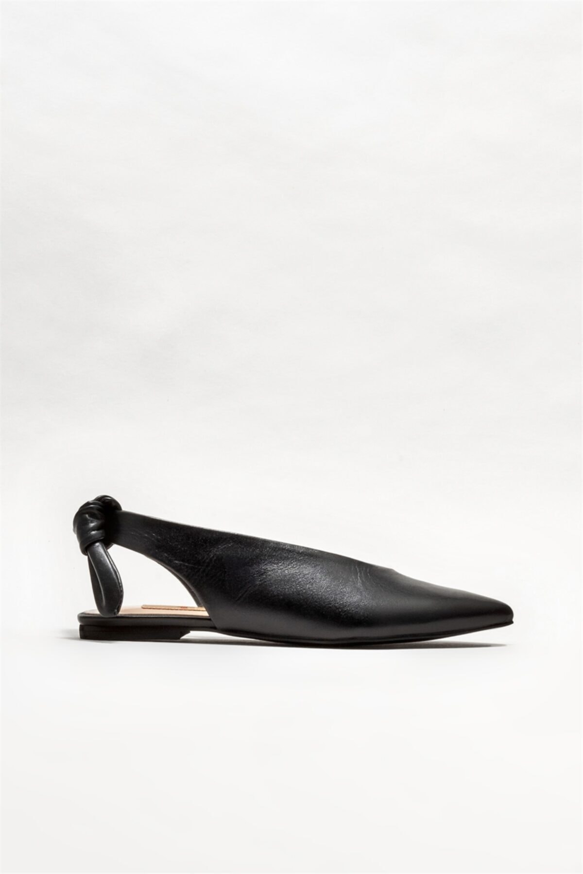 Elle Shoes Kadın Siyah Deri  Babet 1