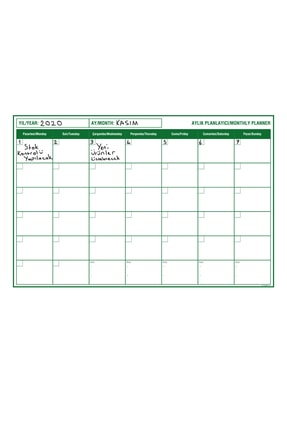 Tutunabilir Kağıt Planlayıcı Akıllı Kağıt Planner Sticker 2021 Kağıt Yazı Tahtası Takvim Aylık Monthly Set
