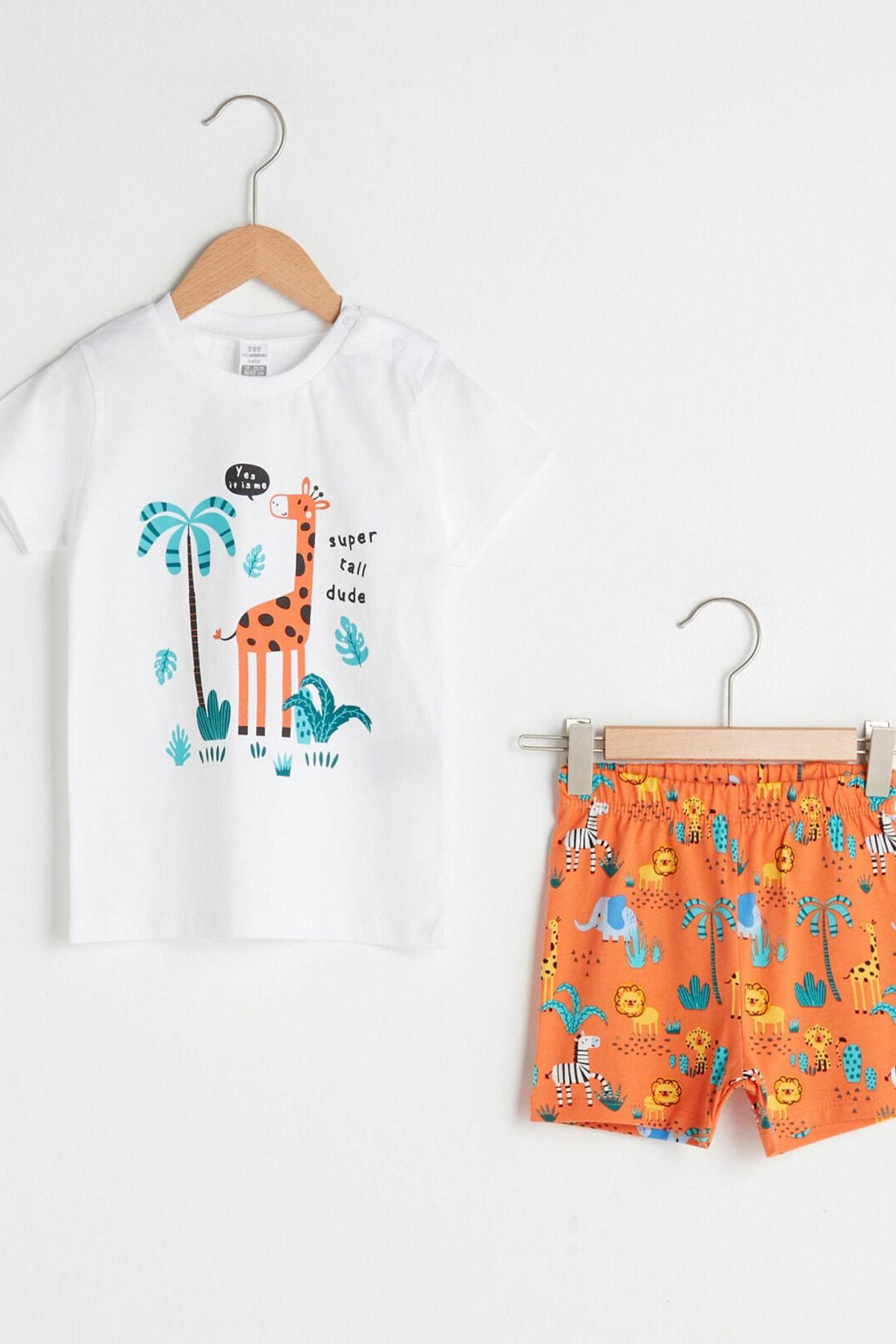 LC Waikiki Erkek Bebek Optik Beyaz E5X Pijama Takımı 1