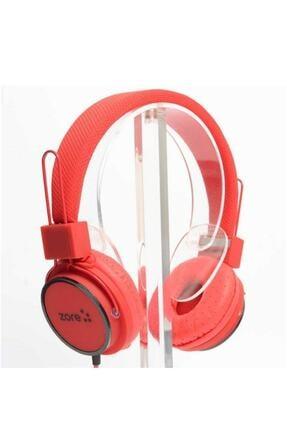 zore Super Bass Kablolu Mikrofonlu Kulaküstü Kulaklık Kafa Bantlı Y-6338 Telefon Kulaklığı Kırmızııı