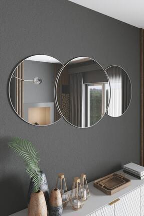 Mirror Art Dekoratif Duvar Aynası 3 Parçalı