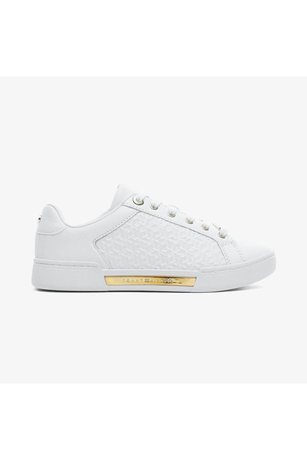 Tommy Hilfiger Kadın Beyaz Bağcıklı Spor Ayakkabı 1