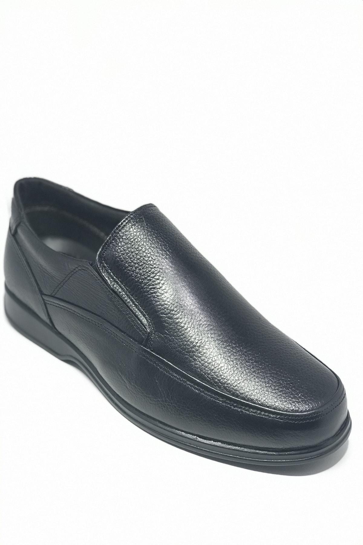 SAİM KUNDURA Baba Ayakkabısı Hakiki Deri 4 Mevsimlik Ortopedik Taban Bağsız 1