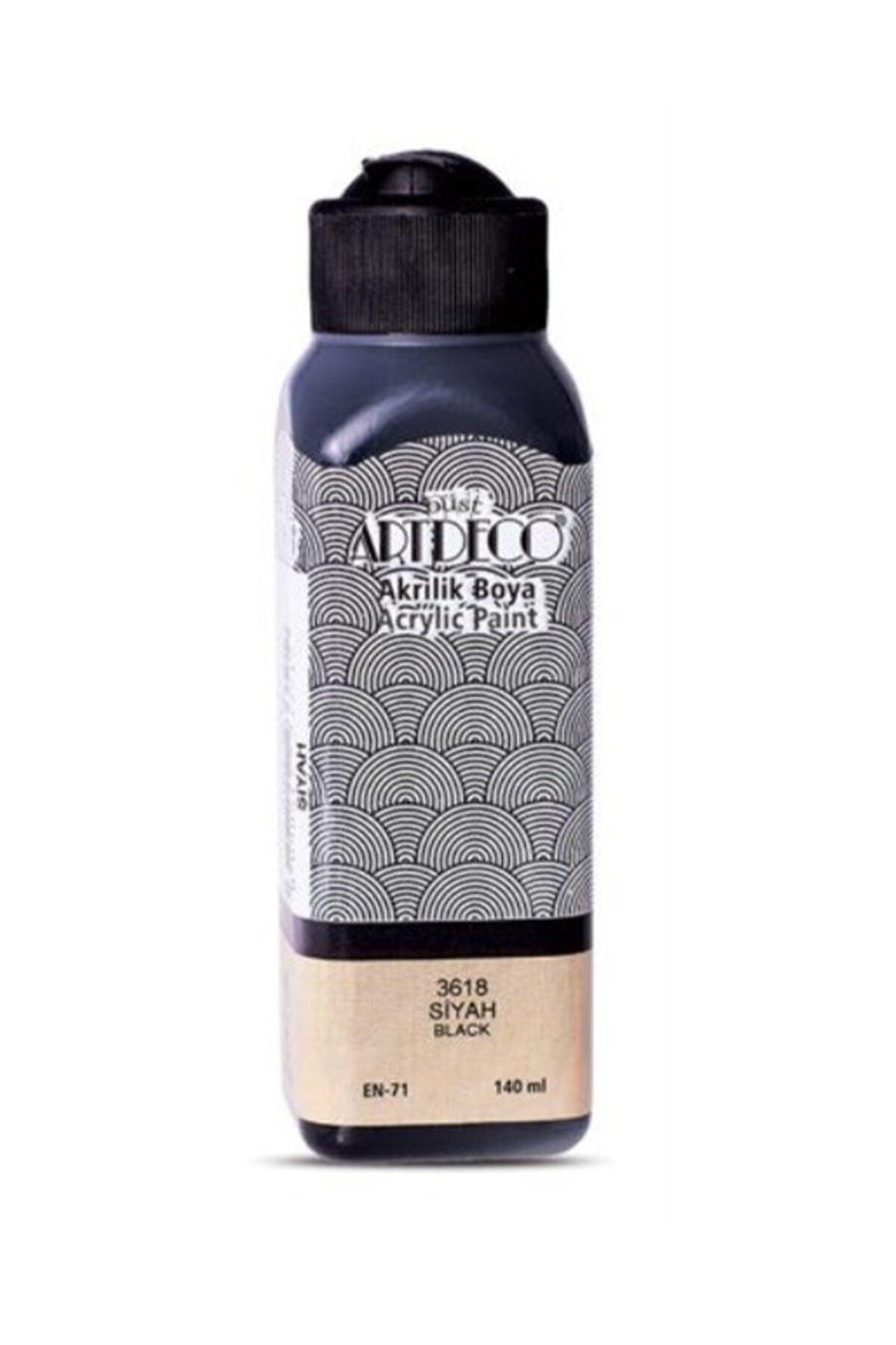 Artdeco Akrilik Boya 140 ml. Siyah 70r-3618 1