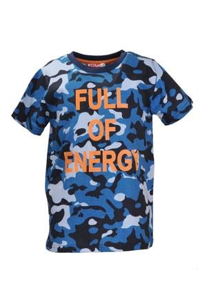 Zeyland Mavi Kamuflaj Desenli T-shirt (5-14YAŞ)
