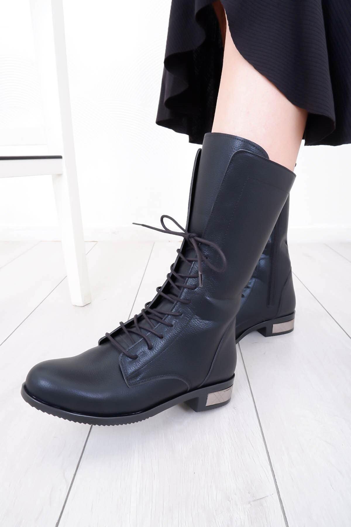 Tinka Bell Shoes K54 Kadın Bot Siyah 2