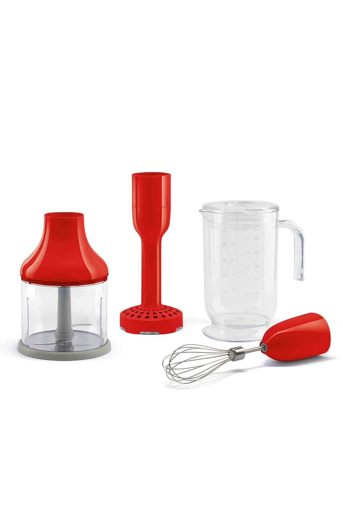 SMEG Kırmızı Paslanmaz Çelik El Blenderi Hbf02rdeu 2