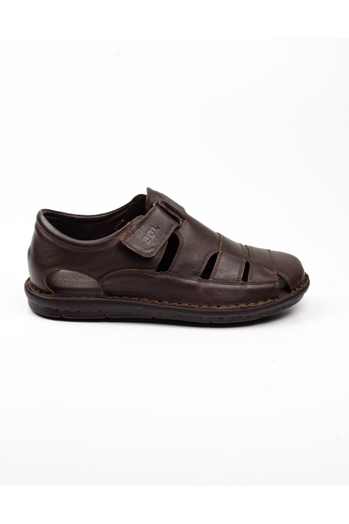 Bulldozer Erkek  Kahverengi Deri Sandalet -41 2