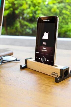 Pazarika Ahşap Akustik Telefon & Tablet Standı. Ses Artırma Ve Sese Akustik Katma