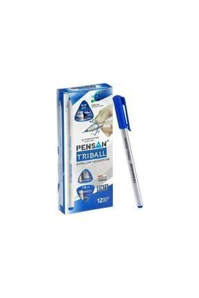 Pensan Mavi Triball Tükenmez Kalem 1mm 01003 12'li Kutu