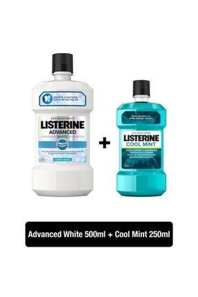 Listerine Advanced White 500 ml + Cool Mint 250 ml