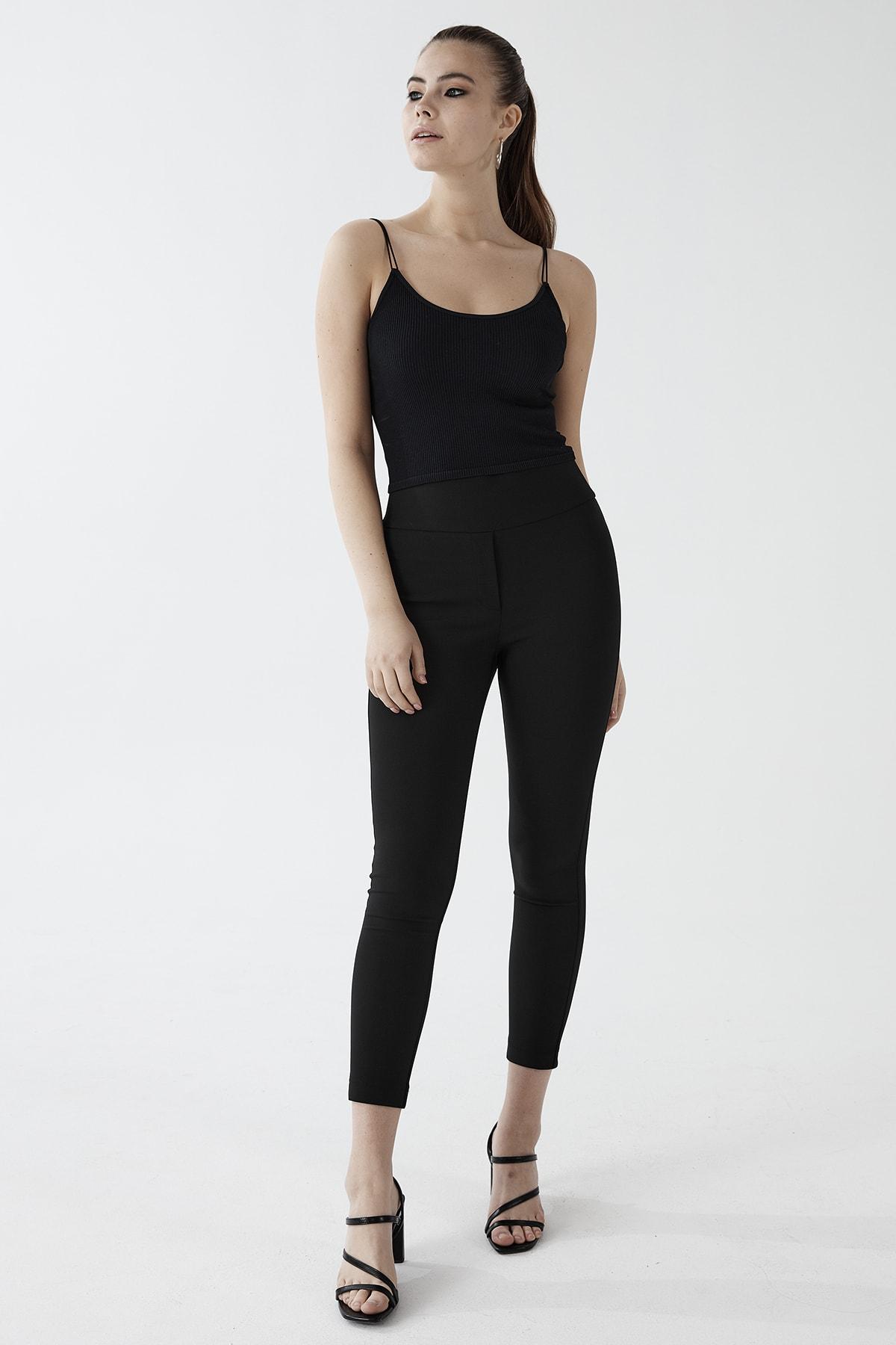 Chima Kemeri Geniş Lastikli Tayt Pantolon 1