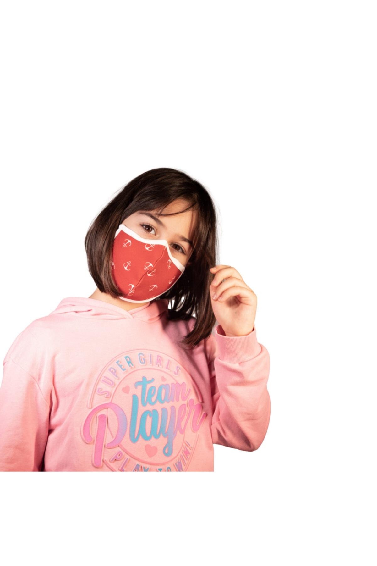 NOCLET + Noclet+ Premium Maksimum Koruma Gümüş Iyonlu Yıkanabilir Maske Çocuk Anchor 2