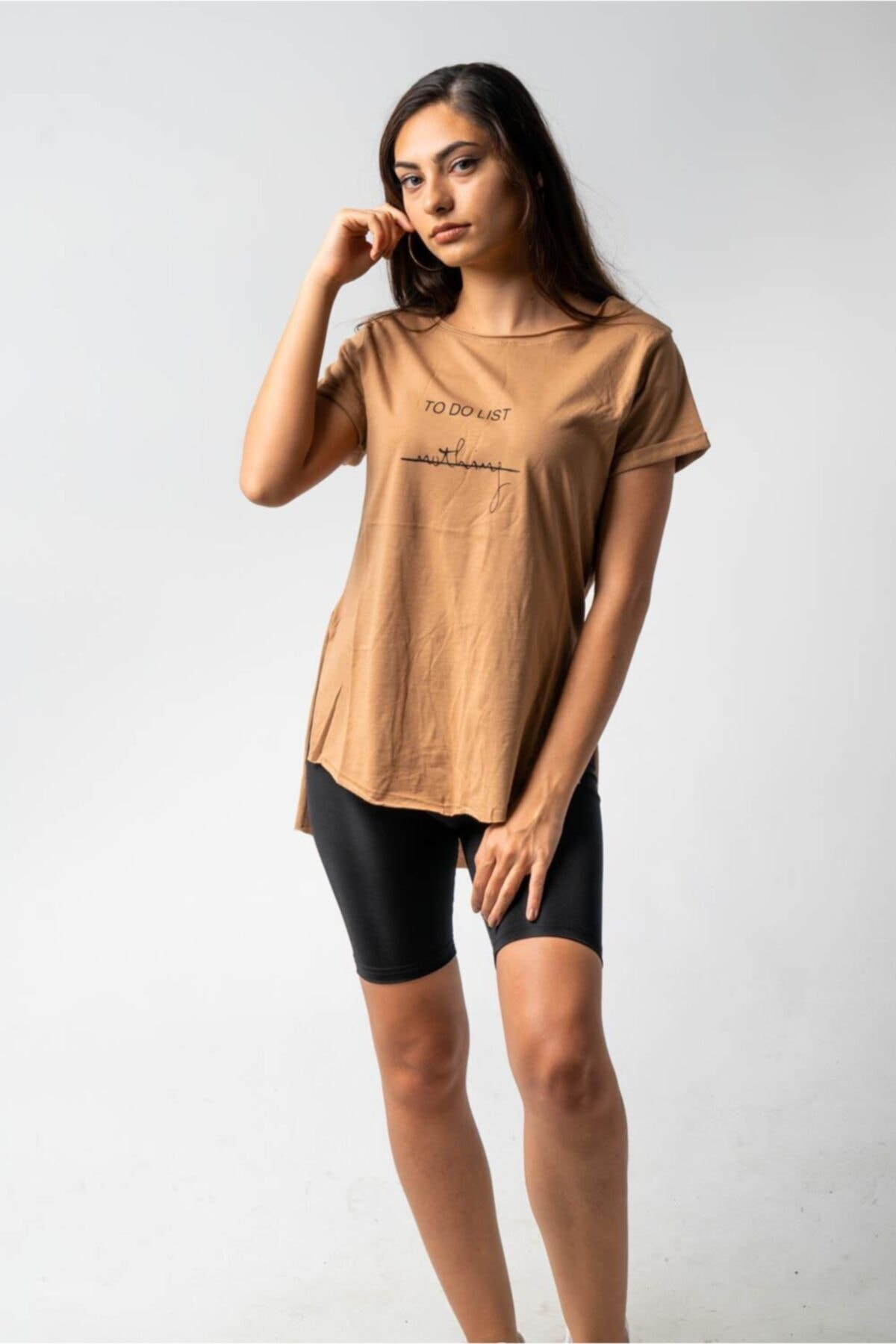 CNS To Do List Nothing- Baskılı T-shirt 2