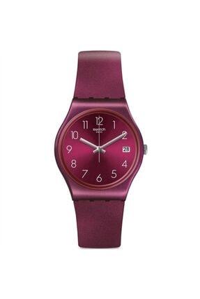 Swatch Redbaya Gr405 Kadın Bordo Kol Saati
