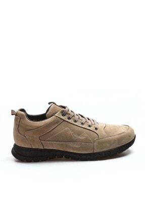 FAST STEP Hakiki Deri Kürklü Kum Erkek Outdoor Ayakkabı 723kmba2021