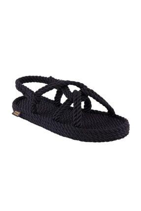 Nomadic Republic Bora Bora Erkek Halat Sandalet - Siyah