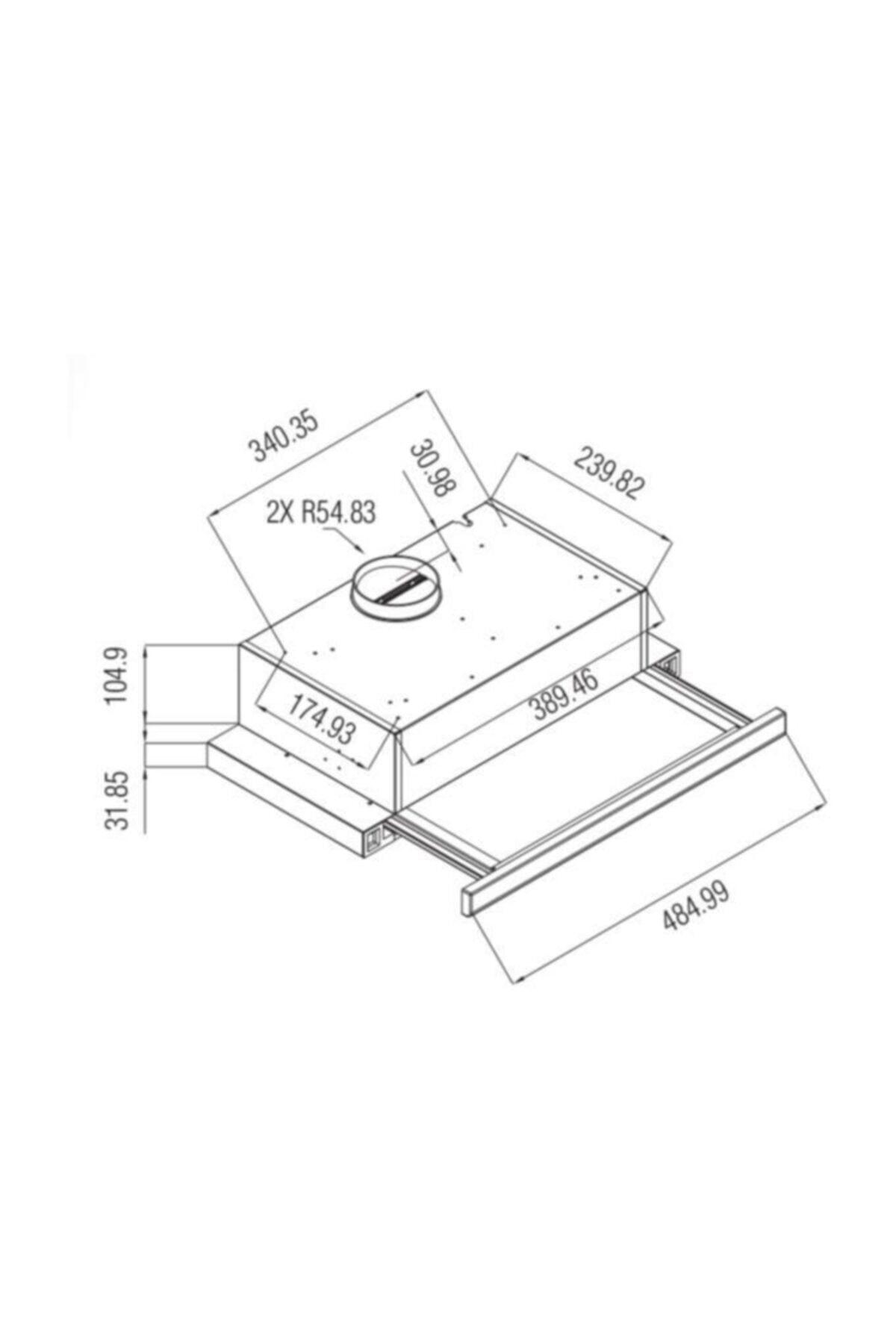 HİBSAN 8062 X 60 Inox Aspiratör 2