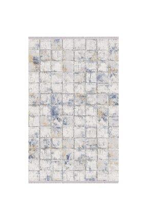Karmen Halı Soft 706 Gri Mavi Modern Salon Halısı 150x233 Cm