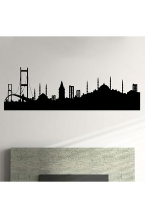 Svava Istanbul Siluetli Metal Led Işıklı Duvar Panosu