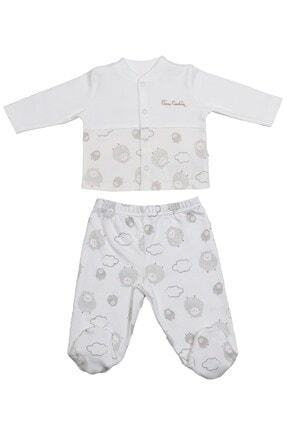 Pierre Cardin Baby Ekru Kuzulu Bebek Takımı
