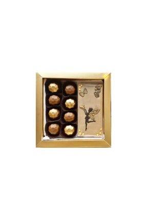 Çikolata Dünyası Çikolata Kutusu (8'li adet Çikolata + 1 Tasarım Tablet ) Perili Tasarım Kutusu