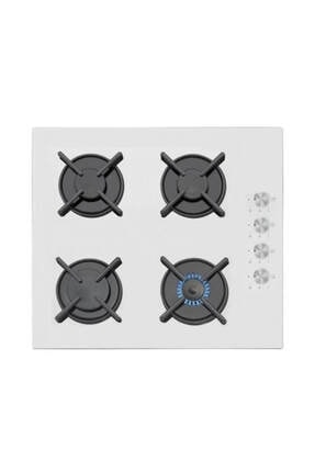 Simfer 3507 Gaz Emniyetli Cam Ankastre Ocak Beyaz