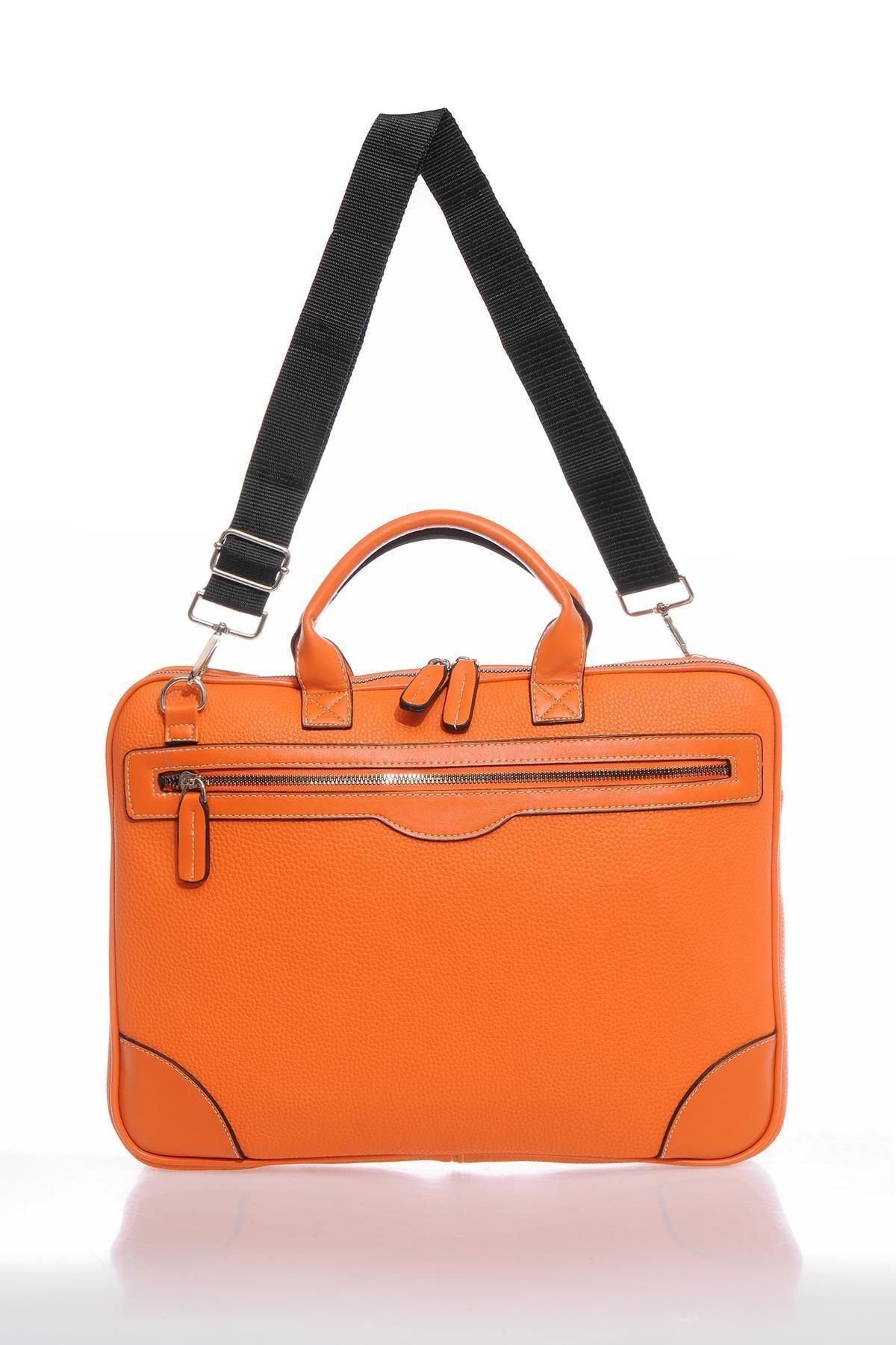 Sergio Giorgianni Mp9124 B.turuncu-turuncu Unısex Evrak Çantası 1