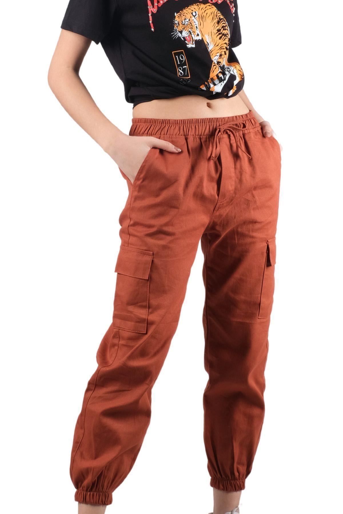 ŞİMAL Beli Paçası Lastikli Kargo Pantolon 1