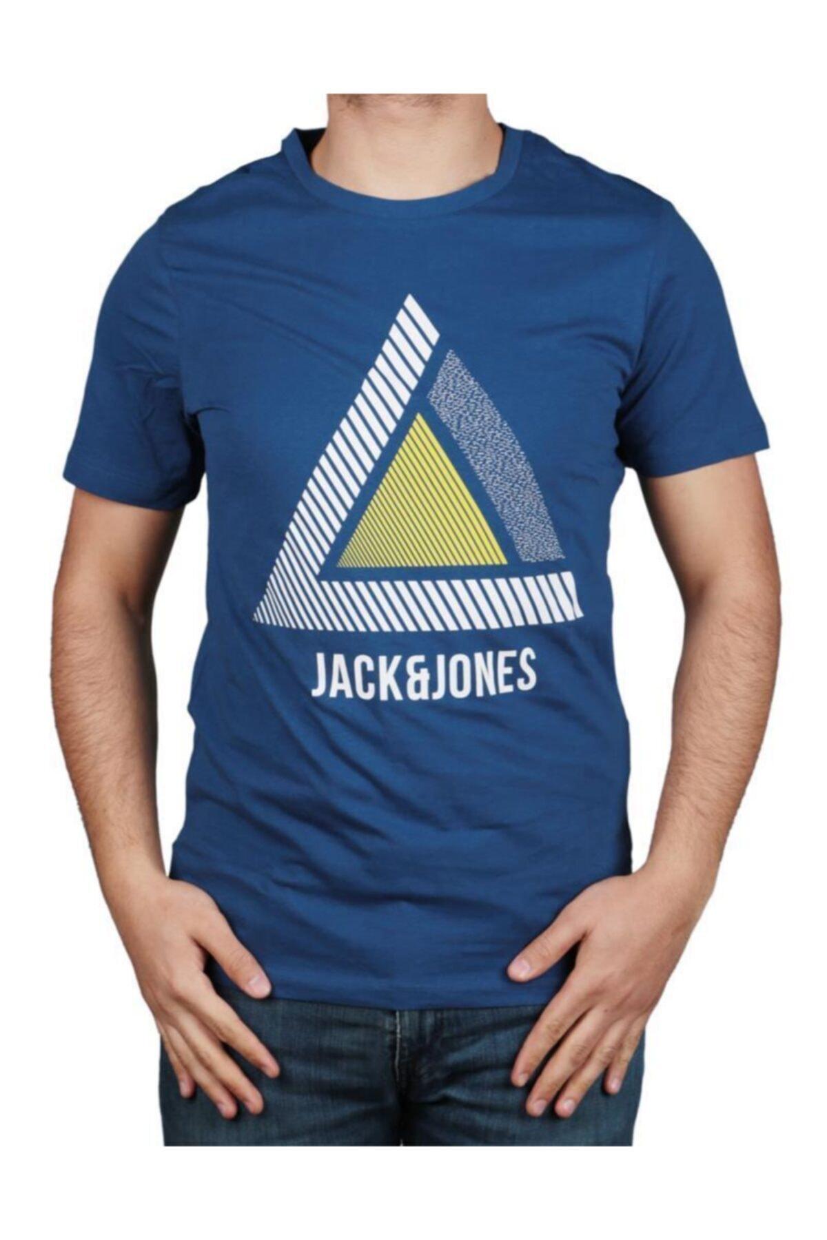 Jack & Jones Erkek Mavi T Shirt 1