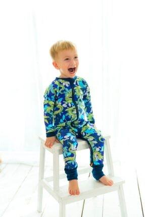 KidZee Z-suit Crocodile Patikli 0.5 Tog Uzun Uyku Tulumu