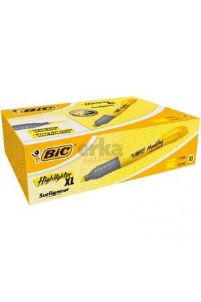 Bic Bıc Marking Highlighter Xl Fosforlu Kalem Sarı 10'lu Kutu