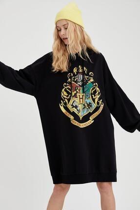 DeFacto Harry Potter Lisanslı Kapüşonlu Sweat Elbise