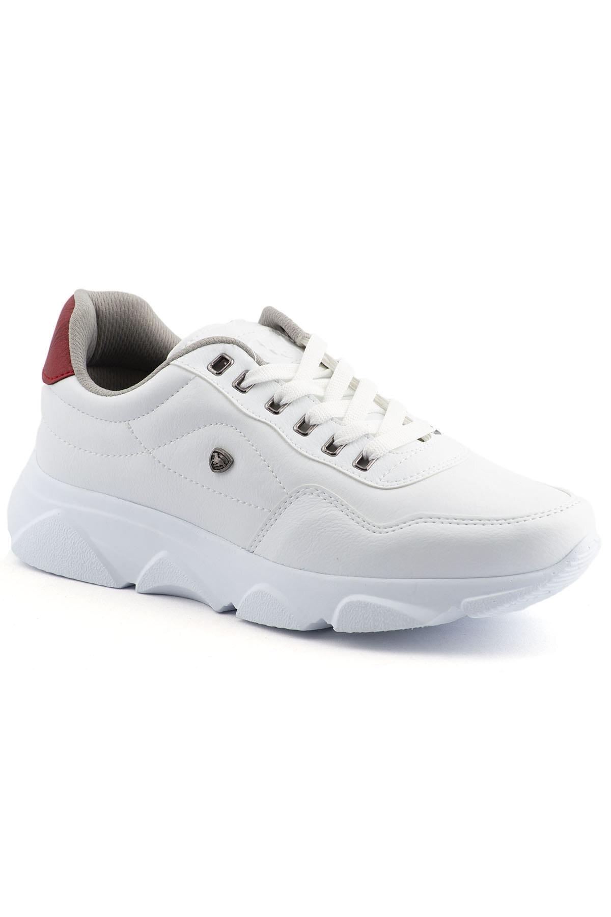 L.A Polo 019 Beyaz Beyaz Erkek Spor Ayakkabı 1