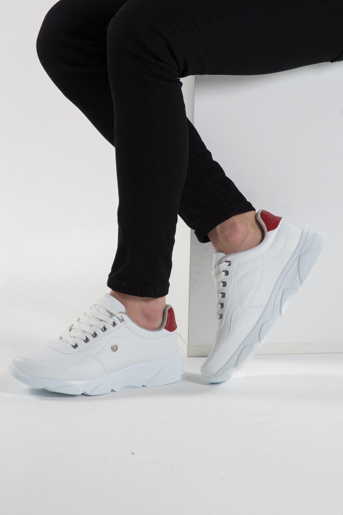 L.A Polo 019 Beyaz Beyaz Erkek Spor Ayakkabı 2