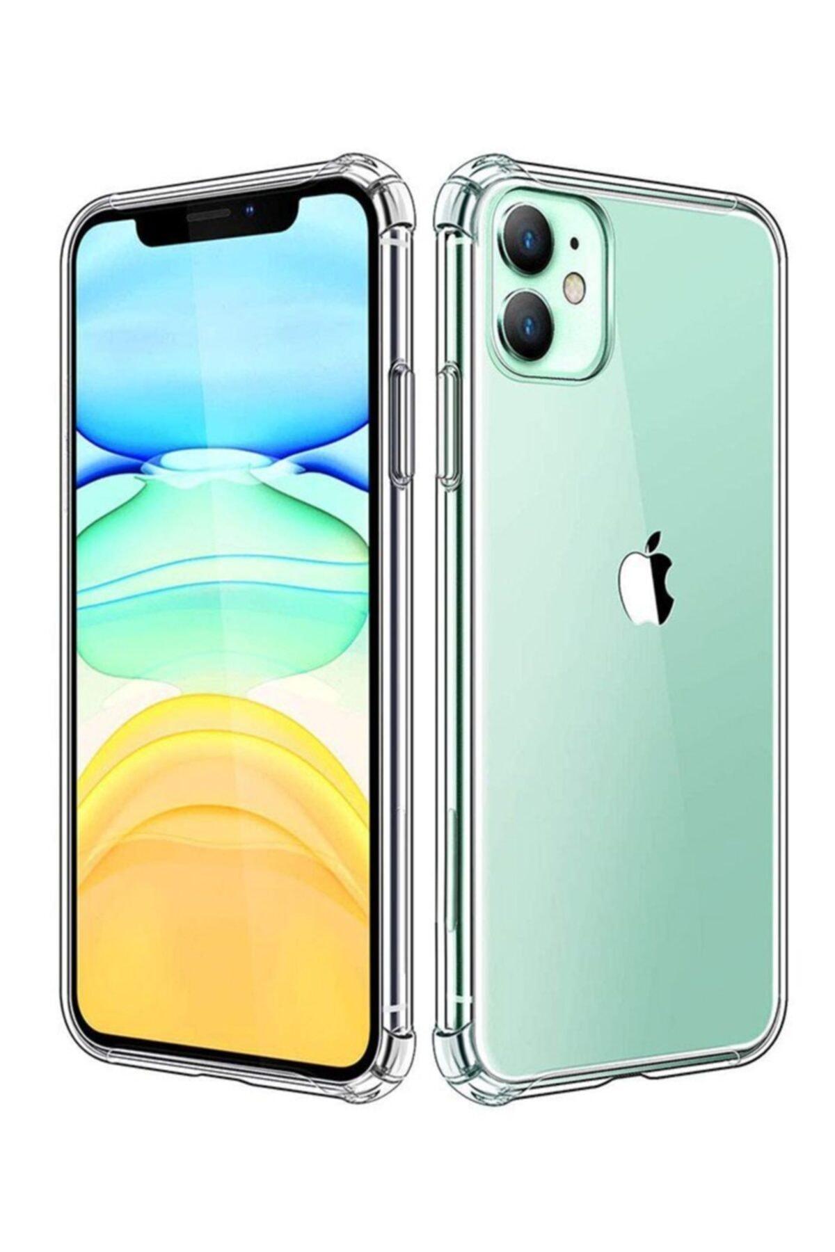 TechnoGuru Iphone 11 Pro Maxtıpalı Şeffaf Silikon Kılıf 1