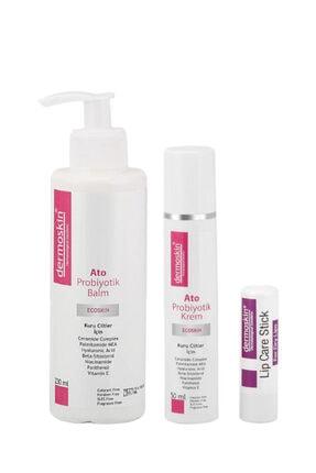 Dermoskin Ato Probiyotik Balm 230 ml + Ato Probiyotik Krem 50 ml + Lip Care Stick Spf 30