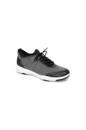 Geox Kadın Siyah Beyaz Sneaker