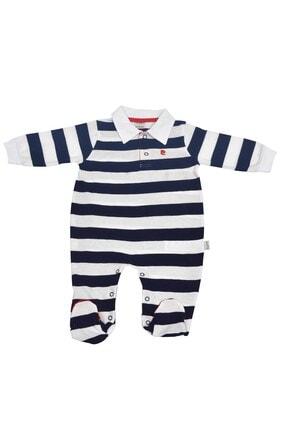 Pierre Cardin Baby Pierre Cardin Çizgili Yakalı Erkek Bebek Tulumu Lacivert