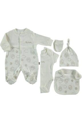 Pierre Cardin Yeni Doğan Hastane Çıkışı Bebek Seti 6 Lı Kuzulu