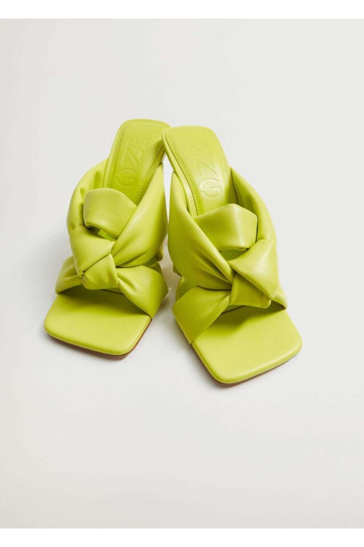 MANGO Woman Düğüm Detaylı Topuklu Ayakkabı 1