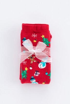 Penti Parlak Kırmızı Cookie Soket Çorap