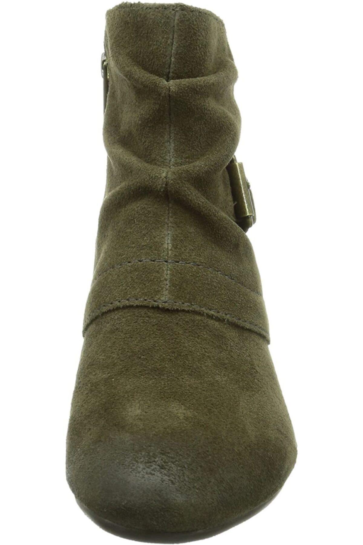 CLARKS Kadın Yeşil Bot Sırçalı Yağlı Nubuk Cowboy Boots Melani Jude 2