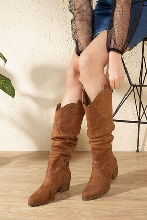 derithy Lademo Çizme-taba Süet-ptm4001