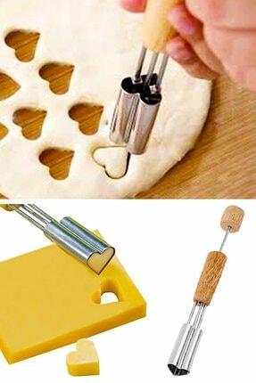 Helen's Home Kalp Model Meyve Ve Peynir Şekillendirici Pratik Ahşap Saplı Hamur Şekillendirici