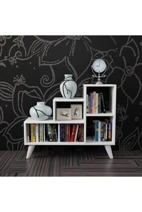 KZY Retro Kitaplık - Beyaz