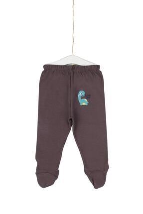 Aziz Bebe Little Dino Nakışlı Patikli Pantolon 0-12 Ay Azz082058