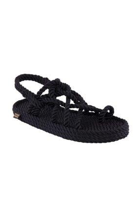 Nomadic Republic Nomadic Erkek Halat Sandalet - Siyah