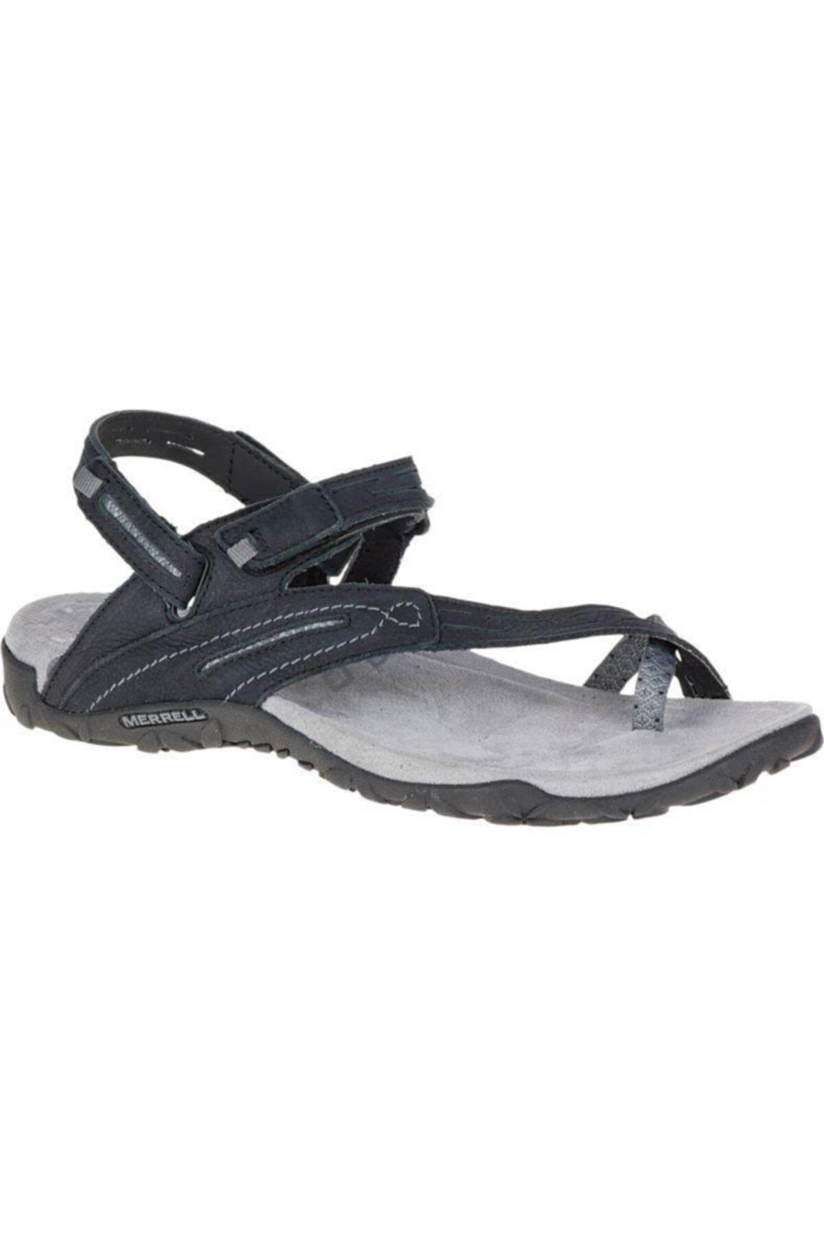 Merrell J55366 Terran Convert 2 Black Kadın Sandalet 1